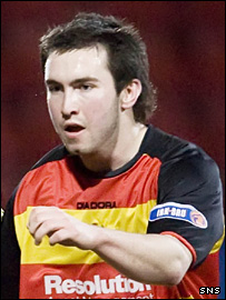 Damon Gray in action for Partick Thistle